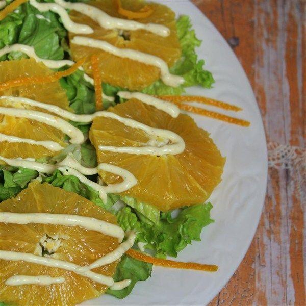 Ensalada de naranja con aderezo de canela