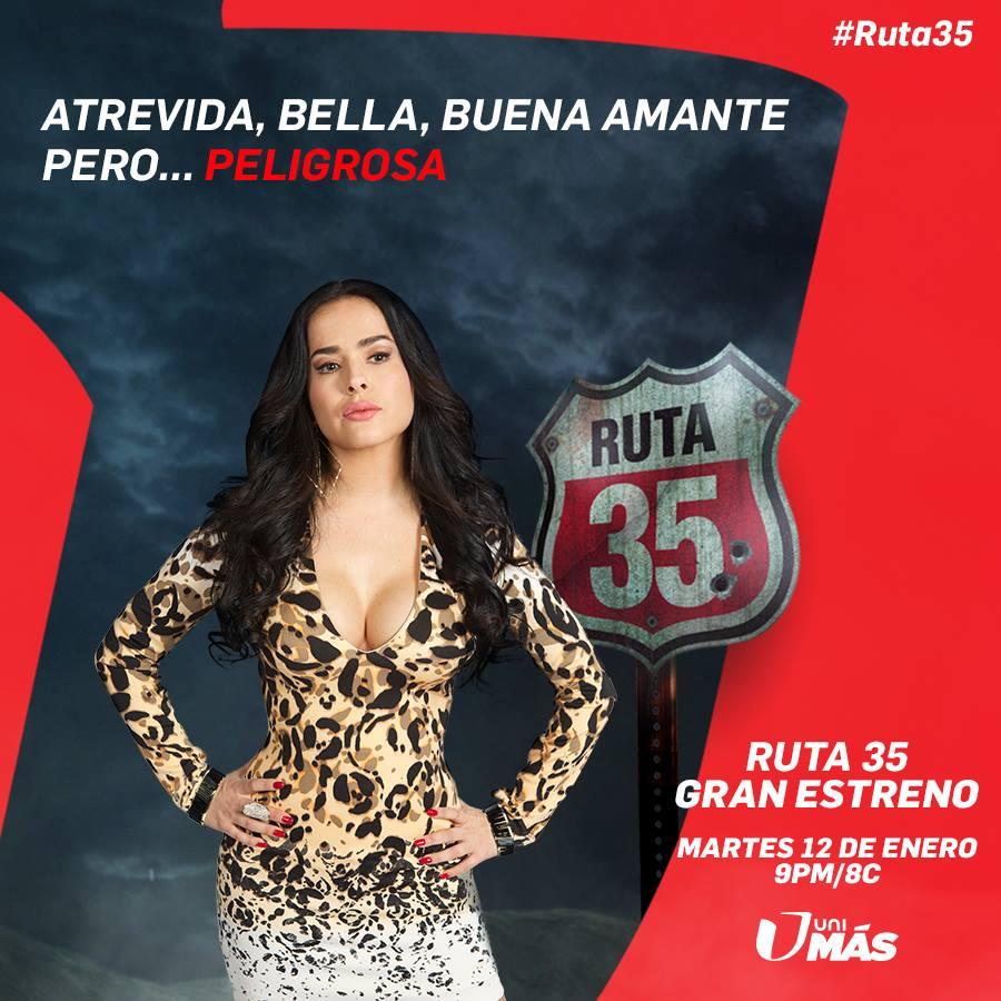 Danna García estrena la nueva serie Ruta 35 por Unimas
