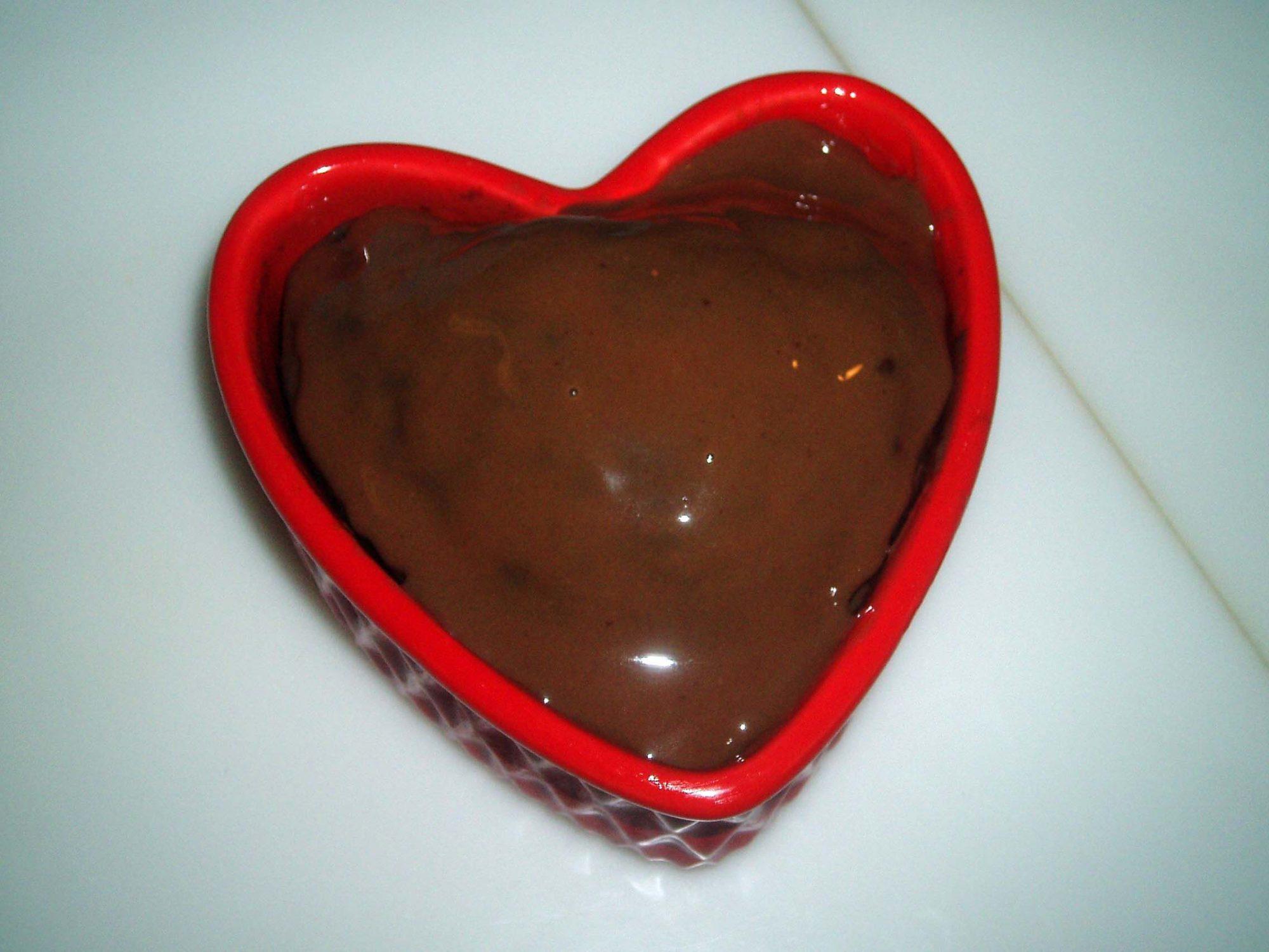 Betún de chocolate pegajoso