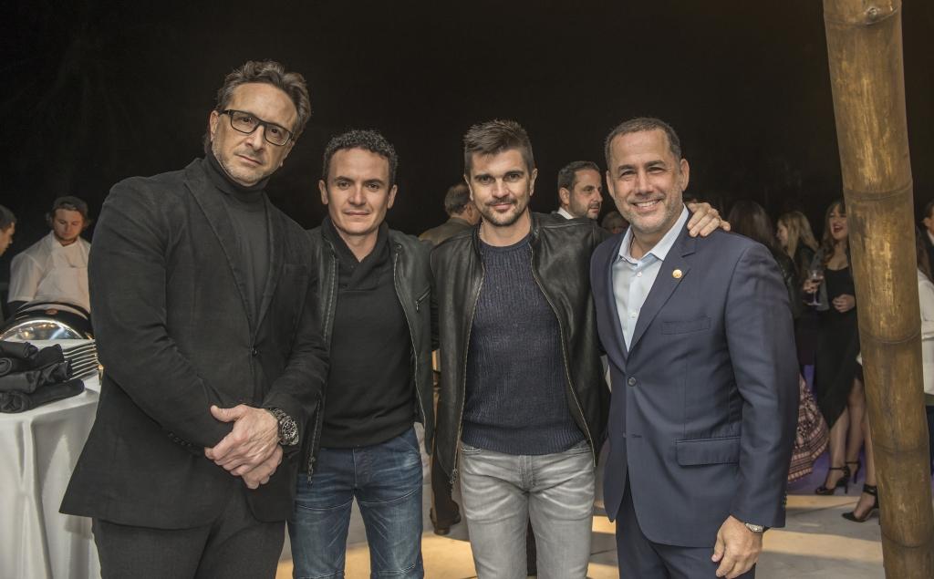 Julio Borges, Fonseca, Juanes, y Phillip Levine