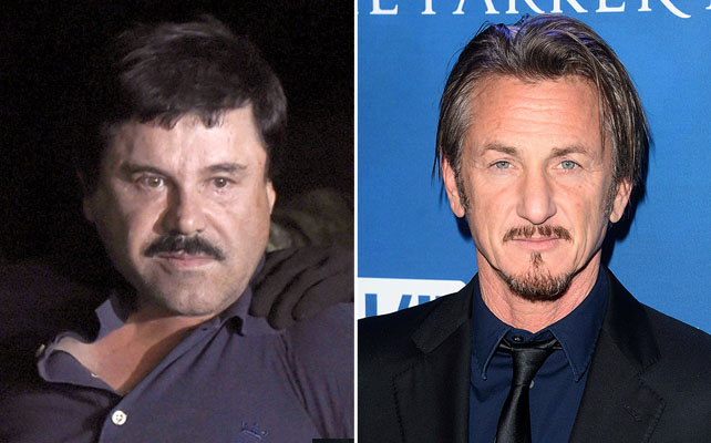 Joaquín 'El Chapo' Guzmán y Sean Penn
