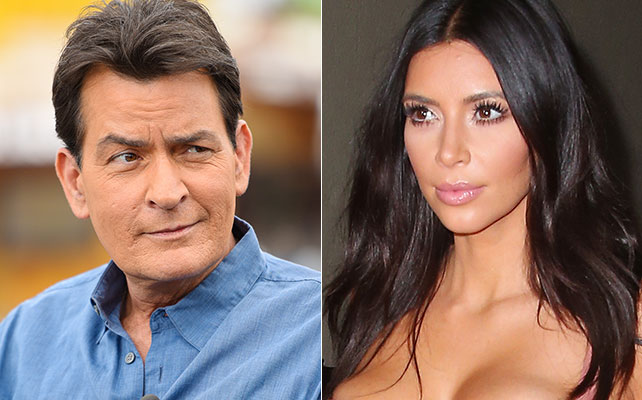 Charlie Sheen y Kim Kardashian