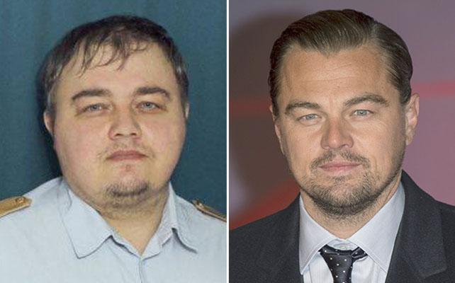 Leonardo DiCaprio y su doble