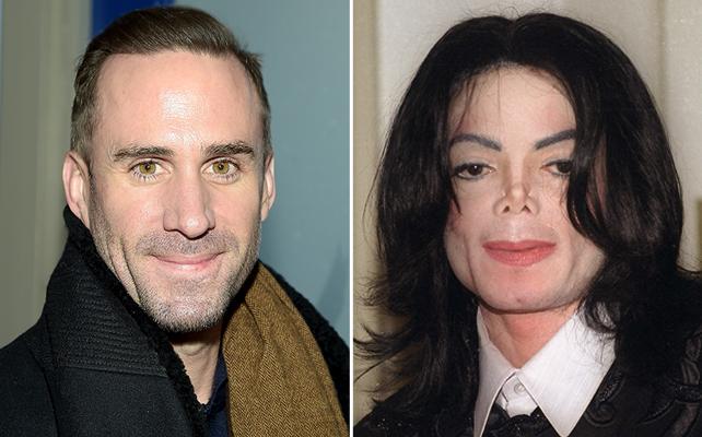 Joseph Fiennes y Michael Jackson
