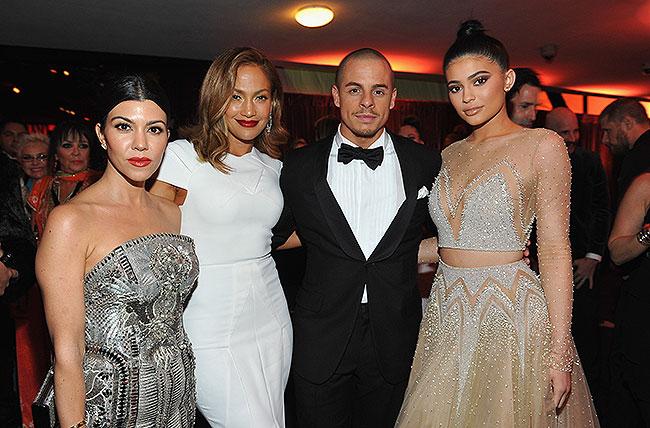 Kourtney Kardashian, Jennifer Lopez, Casper Smart, Kylie Jenner