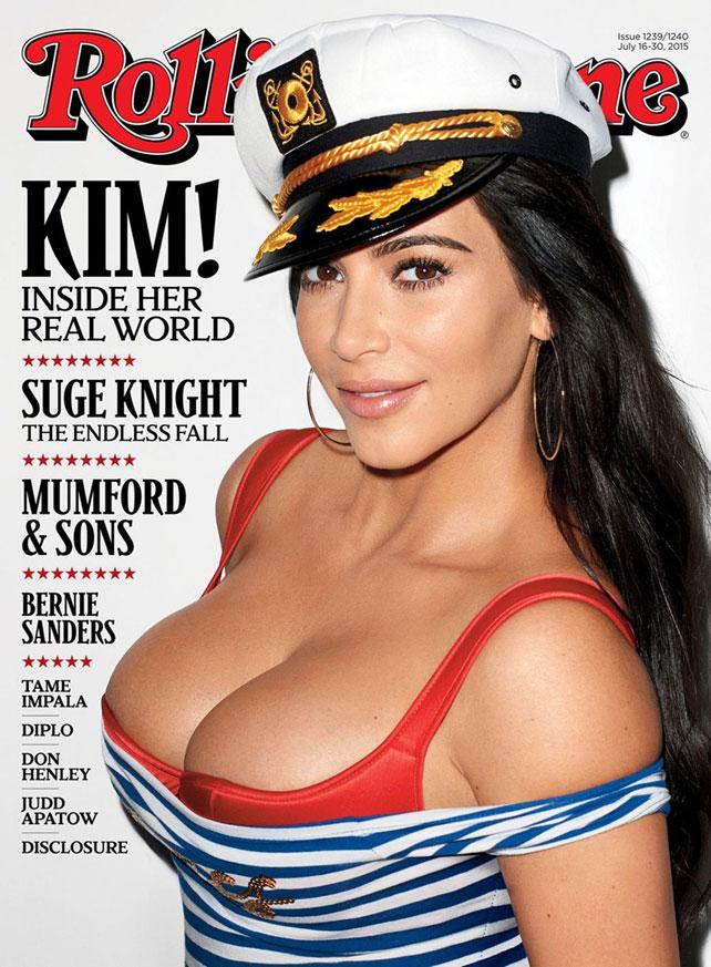 Kim Kardashian en la portada de Rolling Stones