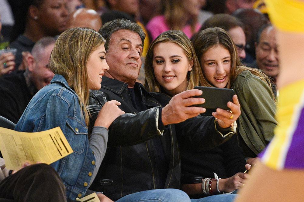 Sylvester Stallone y sus bellas hijas
