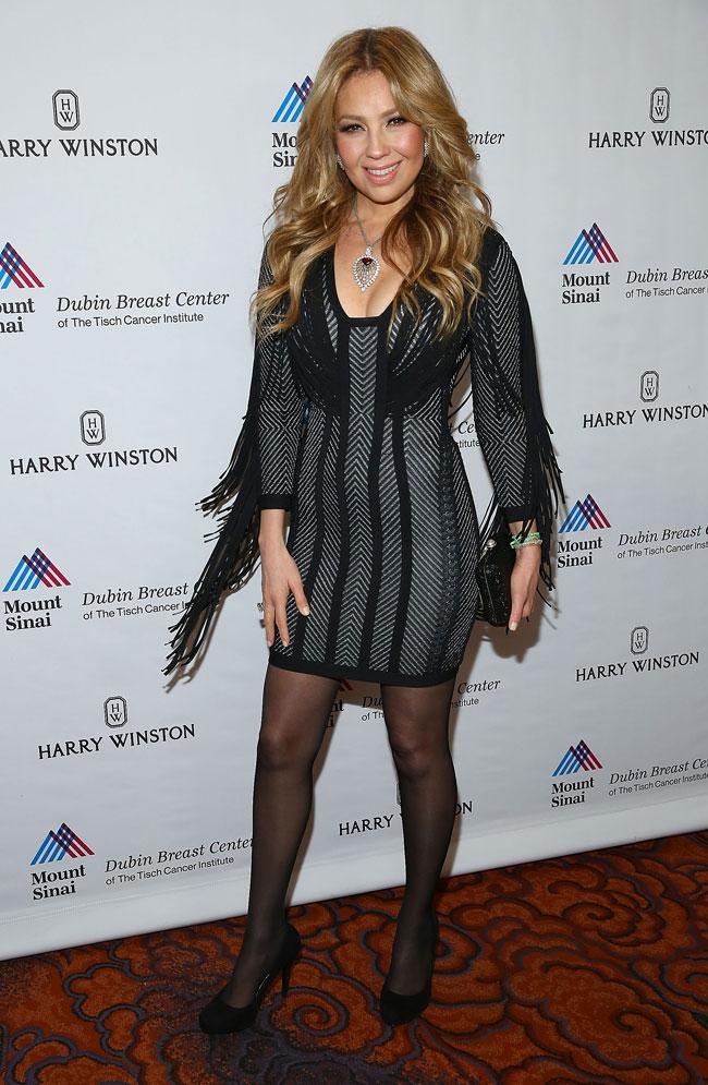 Thalía durante un evento benéfico de Mount Sinai en Nueva York.
