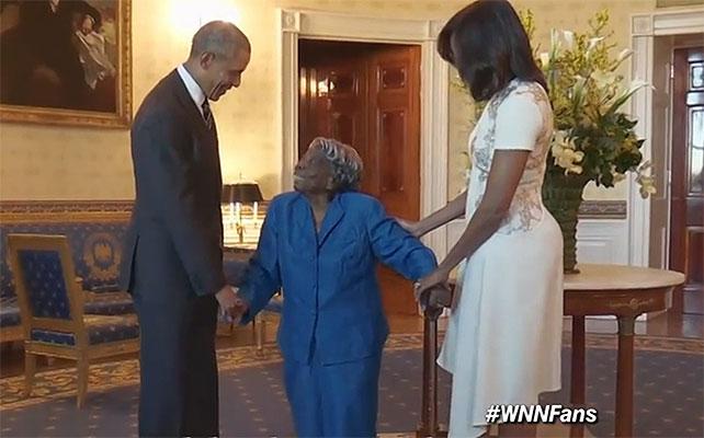 Virginia McLaurin, Barack Obama, Michelle, Obama