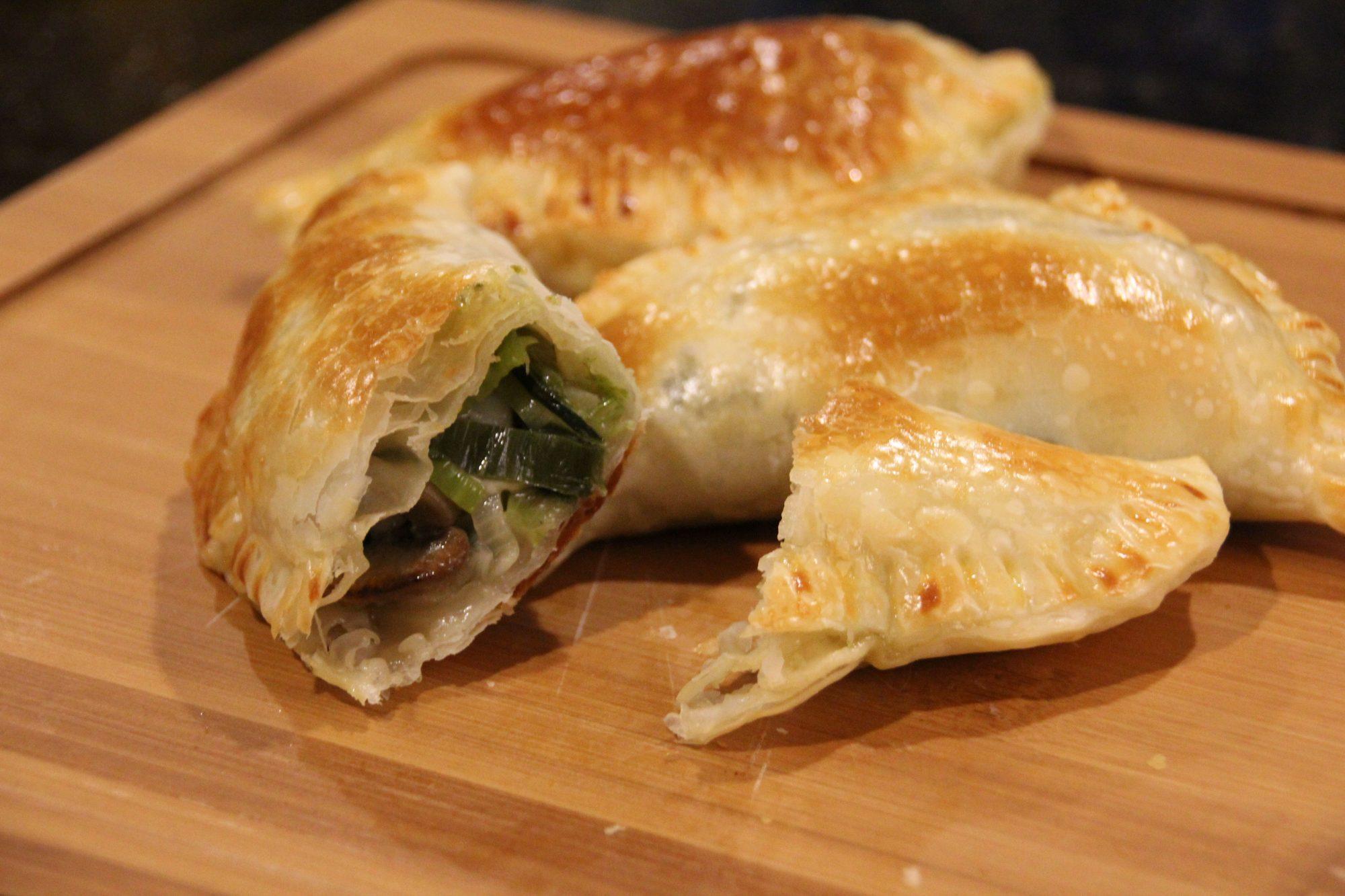 Empanadas de champiñones con queso