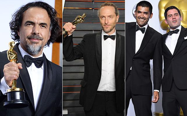 Alejandro Iñárritu, Emmanuel Lubezki, Gabriel Osorio y Pato Escala