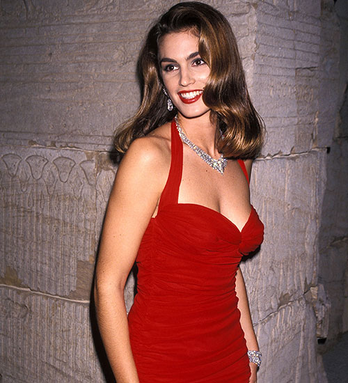CINDY CRAWFORD, EN 1990