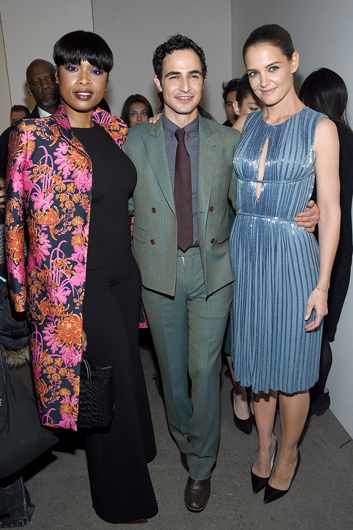 Jennifer Hudson, designer Zac Posen and actress Katie Holmes