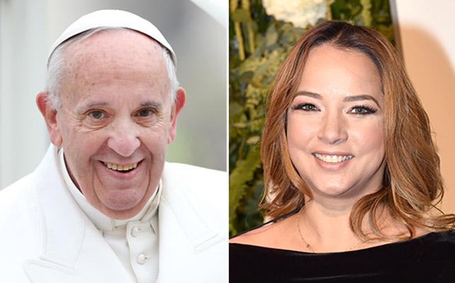 Papa Francisco y Adamari López