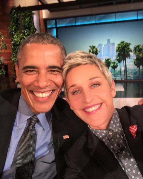 Barack Obama y Ellen DeGeneres