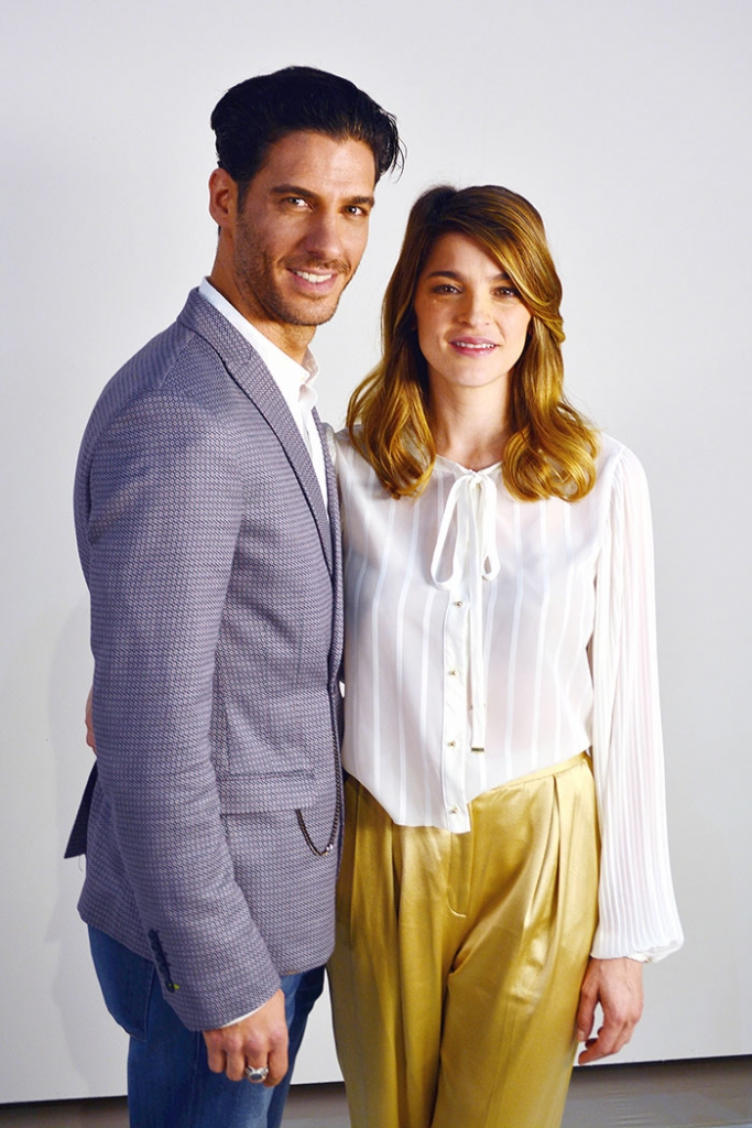 Erick Elías e Irene Azuela