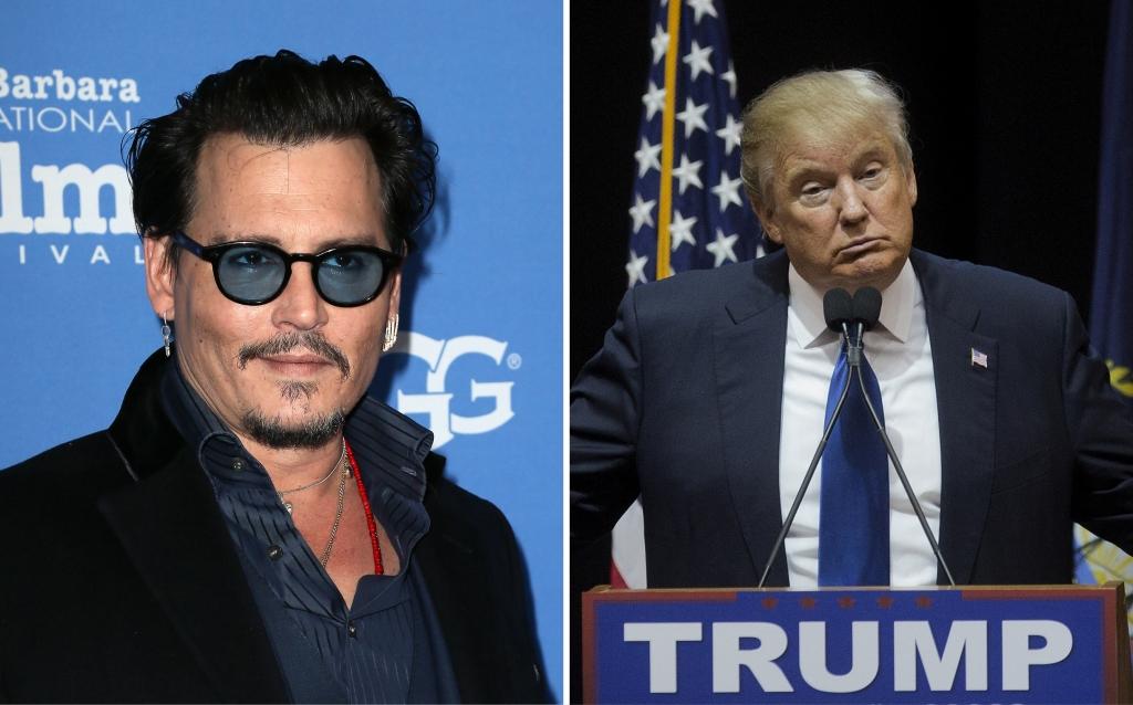 Johnny Depp y Donald Trump