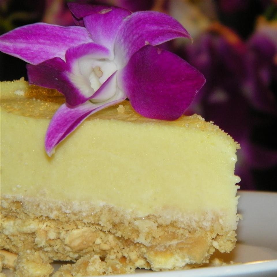 Pastel de queso con gelatina de leche y limón