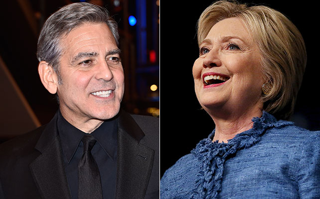 George Clooney y Hillary Clinton