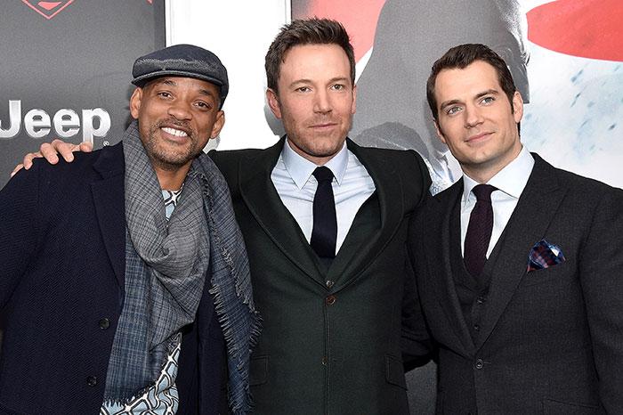 Will Smith, Ben Affleck, Henry Cavill
