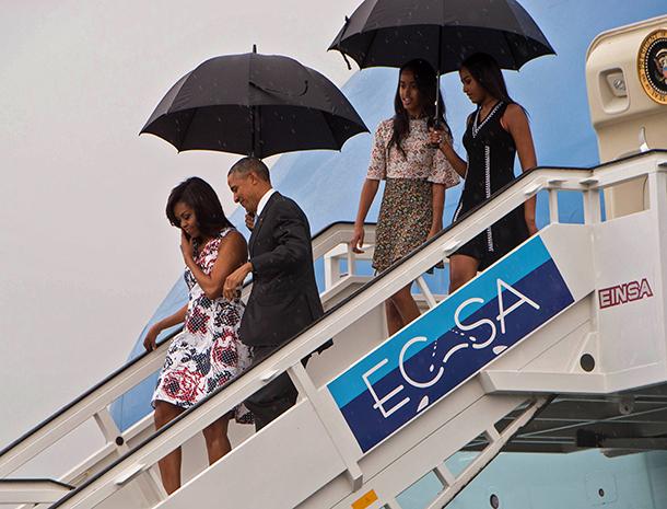 Barack Obama, Michelle Obama, Malia, Sasha