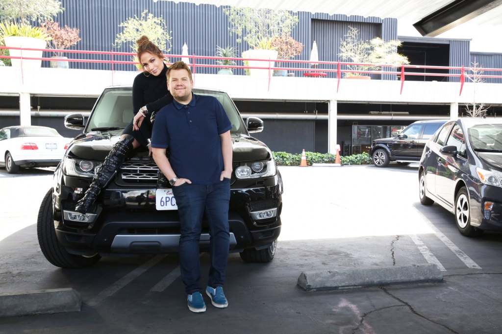 Jennifer Lopez and James Corden