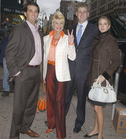 Ivana Trump, Donald J Trump, Ivanka Trump, Donald Trump Jr., Eric Tump