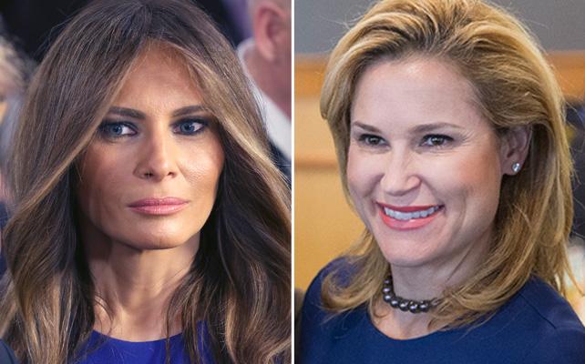 Melania Trump y Heidi Cruz
