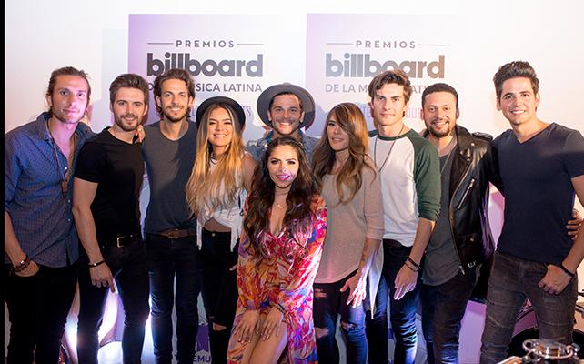Kany Garcia, Pedro Capo, DVICIO, Karol G y Alx Veliz en un concierto antes de Los Premios Billboard de La Música Latina 2016