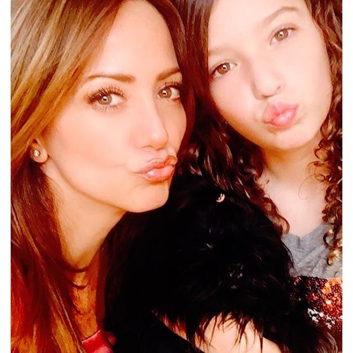 Andrea Legarreta y su hija Mía