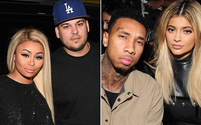 Blac Chyna, Rob Kardashian, Tyga y Kylie Jenner