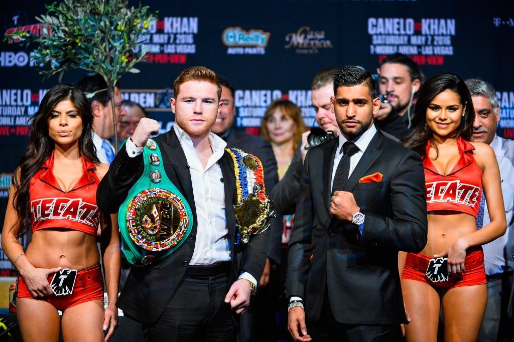Canelo Alvarez y Amir Khan