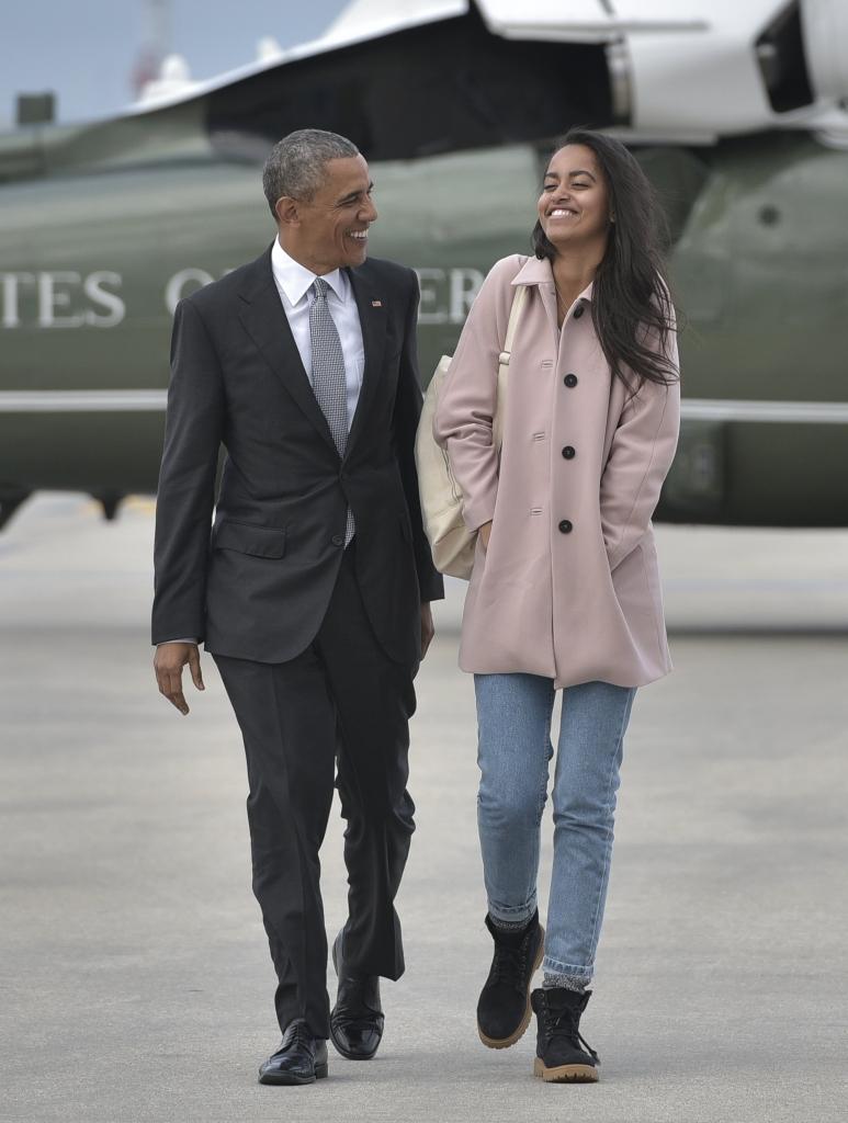 Barack Obama y su hija Malia Obama