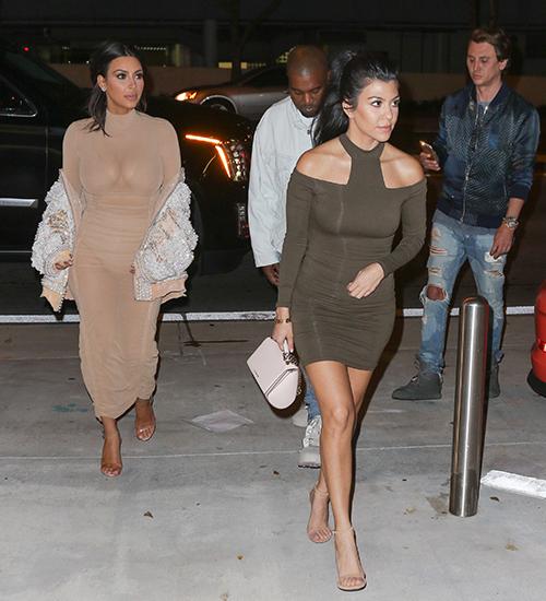 Kim Kardashian, Kourtney Kardashian, Kanye West