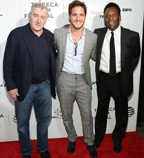Robert De Niro, Diego Boneta y Pelé