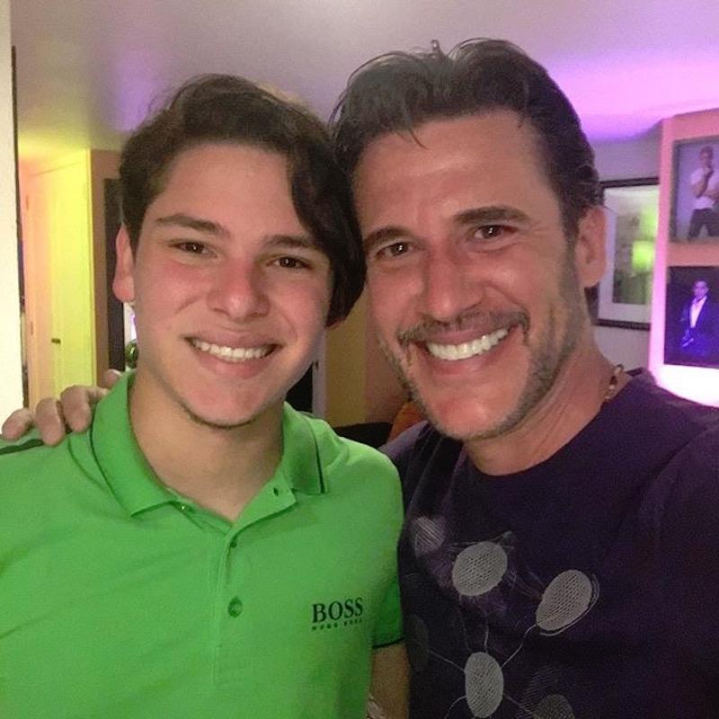Jorge Aravena y su hijo Luis Fernando