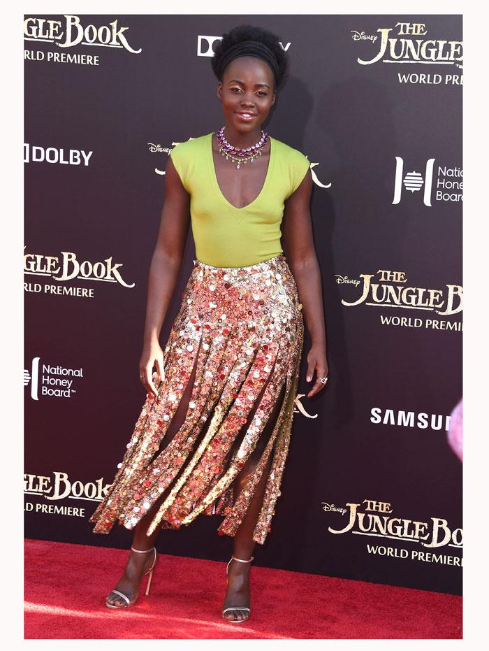 Lupita Nyong'o, look del día