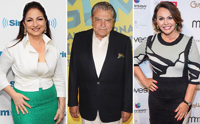 Gloria Estefan, Don Francisco y Maria Elena Salinas