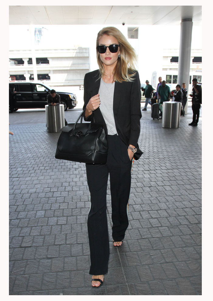 Rosie Huntington, look del día