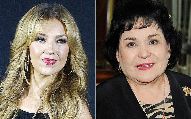 Thalía y Carmen Salinas