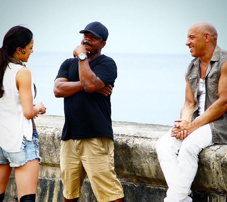 Michelle Rodríguez, F Gary Gray y Vin Diesel