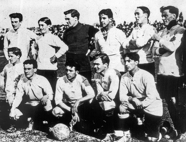 Selección de fútbol de Uruguay en 1917