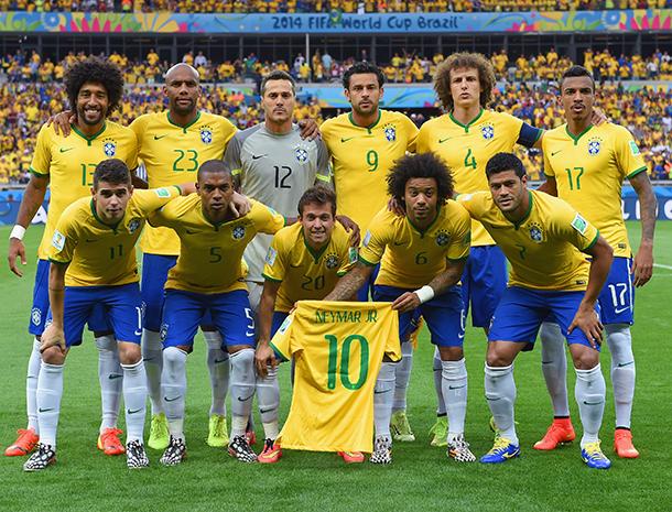Equipo de de Brasil en el mundial del 2014