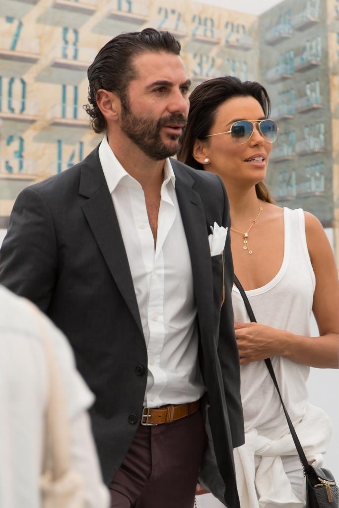 José Antonio Bastón y Eva Longoria