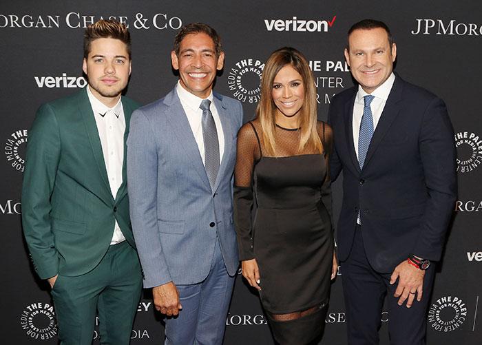 William Valdés, Johnny Lozada, Karla Martínez y Alan Tacher