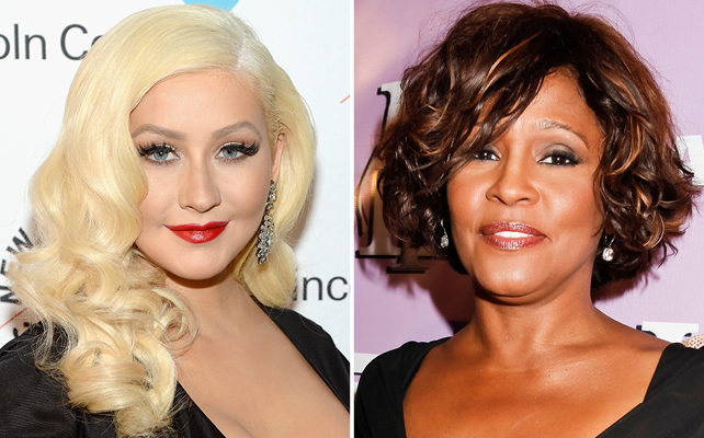 Christina Aguilera y Whitney Houston