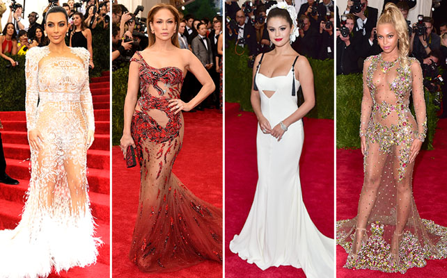 Kim kardashian West, Jennifer Lopez, Selena Gomez y Beyonce