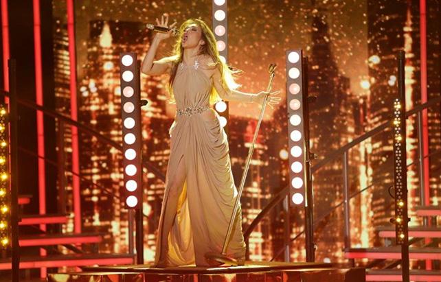 Thalía en el escenario
