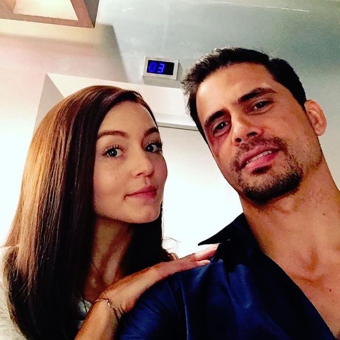 Angelique Boyer y Pedro Moreno