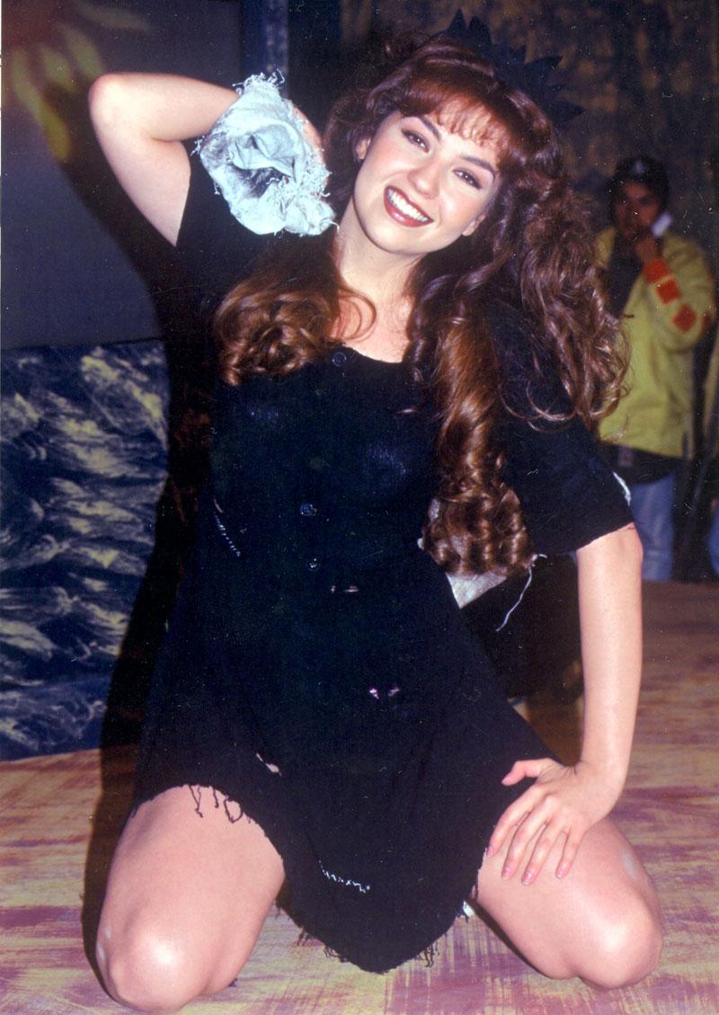 Thalía, fotos del recuerdo